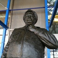 Photo taken at Ralph Kramden Statue by Kathryn Z. on 7/29/2011