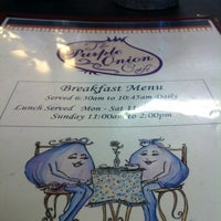 Photo taken at Purple Onion Cafe by Abby L. on 8/19/2012