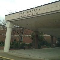 Photo taken at Centennial High School by Becky R. on 3/12/2012