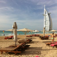 Photo taken at Madinat Jumeirah Private Beach by Desirée S. on 4/14/2012
