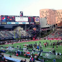 Photo taken at Nippert Stadium by Paige B. on 9/6/2012