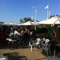 Photo taken at Gallanti Beach Pomposa by Vincenzo L. on 7/22/2011