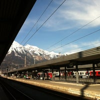 Photo taken at Innsbruck Hauptbahnhof by Martijn on 3/21/2012