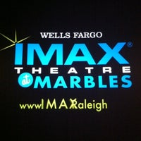 Photo taken at Wells Fargo IMAX Theatre at Marbles by Larry B. on 10/26/2011