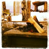 Photo taken at Lynn Britt Cabin by Nabeel H. on 2/19/2012