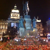 Photo taken at Saint Wenceslas statue by Adley on 12/25/2011