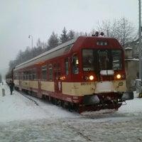Photo taken at Železniční stanice Semily by Jenda Š. on 1/19/2012