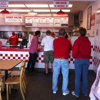 Photo taken at Five Guys by Maggie M. on 4/29/2012
