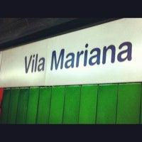 Foto tirada no(a) Estação Vila Mariana (Metrô) por Roberta T. em 4/16/2012