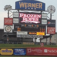 Photo taken at Werner Park by Kristine S. on 5/2/2012