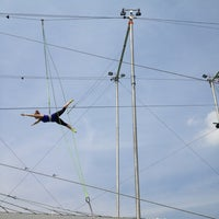 Photo taken at Trapeze School New York by Erin A. on 8/8/2012