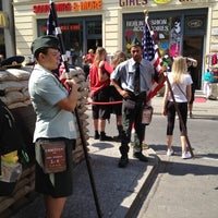 Photo taken at H Kochstr./Checkpoint Charlie by Johan V. on 8/4/2012