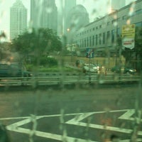 Photo taken at Bus Shelter SCBD by Gustin N. on 1/7/2012