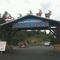 Photo taken at North Pole! Home of Santa's Workshop by michelle h. on 8/14/2011