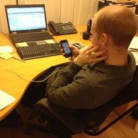 Photo taken at Aksjeservice AS by Anders Viken T. on 1/30/2012