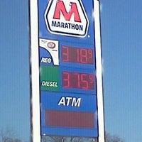 Photo taken at Marathon by Myra L. Walker- W. on 1/18/2012