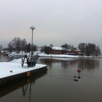 Photo taken at Ravintola Uunisaari by Kia L. on 1/8/2012