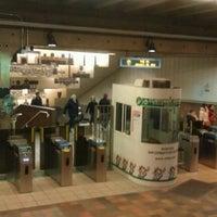 Photo taken at MBTA Porter Square Station by Jake S. on 1/27/2012