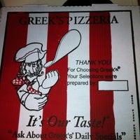 Photo taken at Greek's Pizzeria by Mallorie L. on 8/27/2011