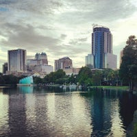 Photo taken at Lake Eola Park by Jandro A. on 8/2/2012