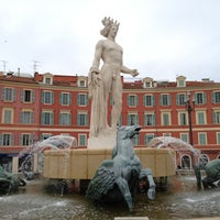 Photo taken at Place Masséna by Sami S. on 5/13/2012