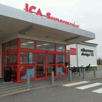 Photo taken at ICA Supermarket Skurup by Aleksandra E. on 3/11/2012