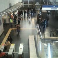 Photo taken at Metro Grecia by Pancho on 7/7/2012