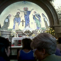 Photo taken at Iglesia de Piedra by Carolina V. on 12/24/2011