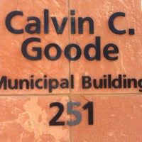 Photo taken at Calvin C. Goode Municipal Building by Charlie B. on 7/25/2012