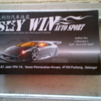 Photo taken at Sky Win Auto Sport by Aril H. on 6/9/2012