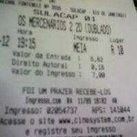 Photo taken at Cine10 Sulacap by Rodrigo d. on 9/11/2012