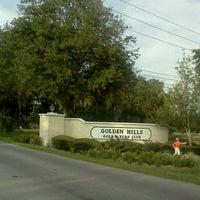 Photo taken at Golden Hills Golf & Turf Club by Ocala W. on 8/29/2011