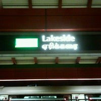 Photo taken at Lakeside MRT Station (EW26) by christina k. on 11/16/2011