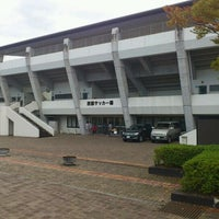 Photo taken at 郡山市営西部サッカー場 by 10_komatti on 10/16/2011