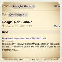 Photo taken at Onavo HQ by Dvir R. on 11/22/2011
