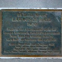 Photo taken at Heritage Trail Plaque - Lawrence Hall, 1920 by new london main street on 2/24/2012