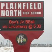 Photo taken at Plainfield North High School by Anay K. on 1/24/2012