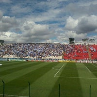 Photo taken at Estádio Joaquim Henrique Nogueira (Arena do Jacaré) by wendell m. on 10/16/2011