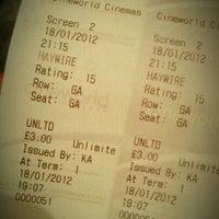 Photo taken at Cineworld by Steve W. on 1/18/2012