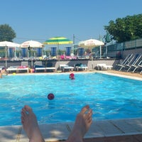 Photo taken at delfino blu piscine by Stefano S. on 8/4/2012