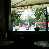Photo taken at Cafe Evropa by Noriko on 5/2/2012