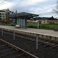 Photo taken at TriMet NW Civic Drive MAX Station by Paul A. on 5/2/2012
