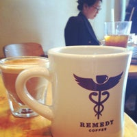 Photo taken at Remedy Coffee by Paula W. on 7/13/2012