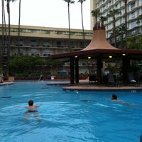 Photo taken at Marriott LAX Pool by Gwen J. on 4/2/2012