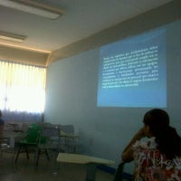 Photo taken at Aula 6E by Hector M. on 3/2/2012