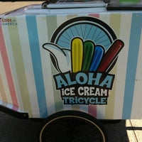 Photo taken at Aloha Pops Ice Cream Tricycle by Dana I. on 8/13/2012