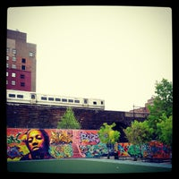 Photo taken at Graffiti Hall Of Fame by Sebastian D. on 4/26/2012