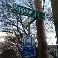 Photo taken at Rippowam Bus Stop by Mellisa B. on 2/28/2012