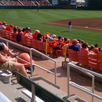 Photo taken at Doug Kingsmore Stadium by Sharon V. on 3/31/2012