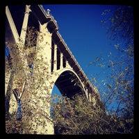 Photo taken at Colorado Street Bridge by Andrew S. on 2/16/2012
